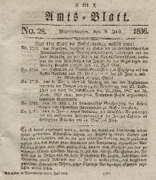 Amts-Blatt der Königl. Regierung zu Marienwerder, 8. Juli 1836, No. 28.