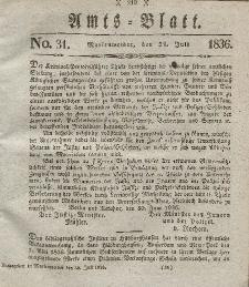 Amts-Blatt der Königl. Regierung zu Marienwerder, 29. Juli 1836, No. 31.
