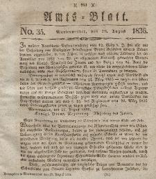 Amts-Blatt der Königl. Regierung zu Marienwerder, 26. August 1836, No. 35.