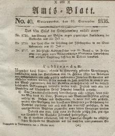 Amts-Blatt der Königl. Regierung zu Marienwerder, 30. September 1836, No. 40.