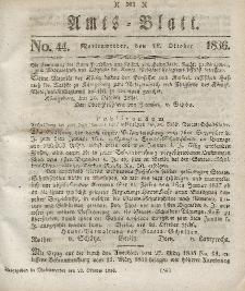 Amts-Blatt der Königl. Regierung zu Marienwerder, 28. Oktober 1836, No. 44.