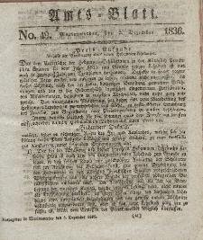 Amts-Blatt der Königl. Regierung zu Marienwerder, 2. Dezember 1836, No. 49.