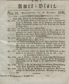 Amts-Blatt der Königl. Regierung zu Marienwerder, 16. Dezember 1836, No. 51.