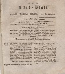 Amts-Blatt der Königl. Preuß. Regierung zu Marienwerder, 17. Juli 1818, No. 29.