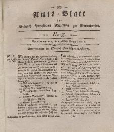 Amts-Blatt der Königl. Preuß. Regierung zu Marienwerder, 28. August 1818, No. 35.