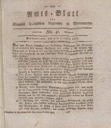 Amts-Blatt der Königl. Preuß. Regierung zu Marienwerder, 9. Oktober 1818, No. 41.