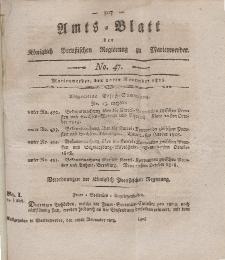 Amts-Blatt der Königl. Preuß. Regierung zu Marienwerder, 20. November 1818, No. 47.