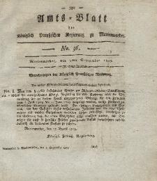 Amts-Blatt der Königl. Preuß. Regierung zu Marienwerder, 3. September 1819, No. 36.