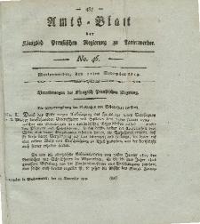Amts-Blatt der Königl. Preuß. Regierung zu Marienwerder, 12. November 1819, No. 46.