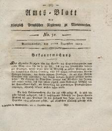 Amts-Blatt der Königl. Preuß. Regierung zu Marienwerder, 10. Dezember 1819, No. 50.