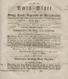 Amts-Blatt der Königl. Preuß. Regierung zu Marienwerder, 9. Juni 1826, No. 23.
