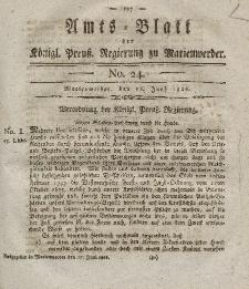 Amts-Blatt der Königl. Preuß. Regierung zu Marienwerder, 16. Juni 1826, No. 24.