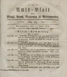 Amts-Blatt der Königl. Preuß. Regierung zu Marienwerder, 23. Juni 1826, No. 25.