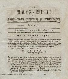 Amts-Blatt der Königl. Preuß. Regierung zu Marienwerder, 22. Dezember 1826, No. 50.