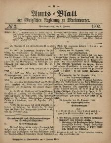 Amts-Blatt der Königlichen Regierung zu Marienwerder, 8. Januar 1902, No. 2.