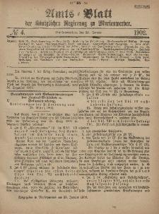 Amts-Blatt der Königlichen Regierung zu Marienwerder, 22. Januar 1902, No. 4.