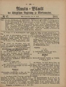 Amts-Blatt der Königlichen Regierung zu Marienwerder, 23. April 1902, No. 17.