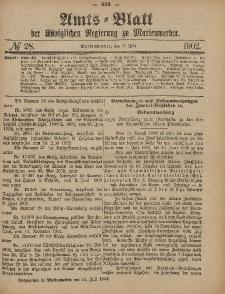 Amts-Blatt der Königlichen Regierung zu Marienwerder, 9. Juli 1902, No. 28.