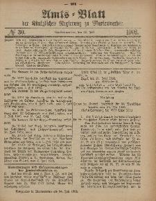 Amts-Blatt der Königlichen Regierung zu Marienwerder, 23. Juli 1902, No. 30.