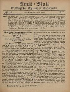 Amts-Blatt der Königlichen Regierung zu Marienwerder, 20. August 1902, No. 34.