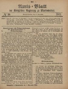 Amts-Blatt der Königlichen Regierung zu Marienwerder, 3. September 1902, No. 36.