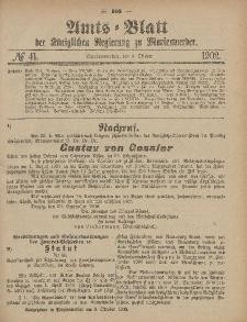 Amts-Blatt der Königlichen Regierung zu Marienwerder, 8. Oktober 1902, No. 41.