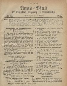 Amts-Blatt der Königlichen Regierung zu Marienwerder, 31. Dezember 1902, No. 53.