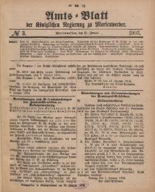 Amts-Blatt der Königlichen Regierung zu Marienwerder, 21. Januar 1903, No. 3.