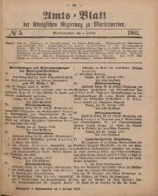 Amts-Blatt der Königlichen Regierung zu Marienwerder, 4. Februar 1903, No. 5.