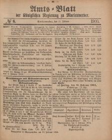 Amts-Blatt der Königlichen Regierung zu Marienwerder, 11. Februar 1903, No. 6.