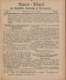 Amts-Blatt der Königlichen Regierung zu Marienwerder, 18. Februar 1903, No. 7.