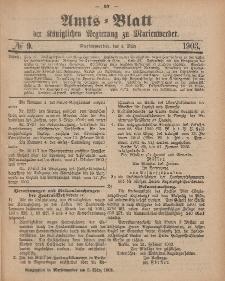 Amts-Blatt der Königlichen Regierung zu Marienwerder, 4. März 1903, No. 9.