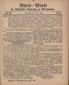 Amts-Blatt der Königlichen Regierung zu Marienwerder, 11. März 1903, No. 10.