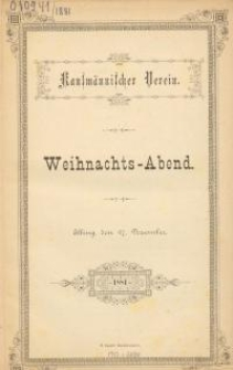 Kaufmännischer Verein : 1881-1883