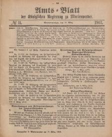 Amts-Blatt der Königlichen Regierung zu Marienwerder, 18. März 1903, No. 11.