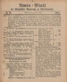 Amts-Blatt der Königlichen Regierung zu Marienwerder, 25. März 1903, No. 12.