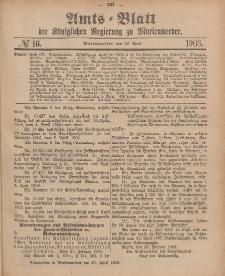 Amts-Blatt der Königlichen Regierung zu Marienwerder, 22. April 1903, No. 16.