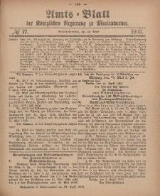 Amts-Blatt der Königlichen Regierung zu Marienwerder, 29. April 1903, No. 17.