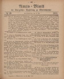 Amts-Blatt der Königlichen Regierung zu Marienwerder, 13. Mai 1903, No. 19.