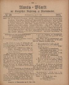 Amts-Blatt der Königlichen Regierung zu Marienwerder, 20. Mai 1903, No. 20.