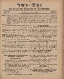 Amts-Blatt der Königlichen Regierung zu Marienwerder, 27. Mai 1903, No. 21.