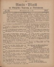 Amts-Blatt der Königlichen Regierung zu Marienwerder, 10. Juni 1903, No. 23.
