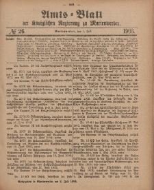 Amts-Blatt der Königlichen Regierung zu Marienwerder, 1. Juli 1903, No. 26.