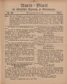 Amts-Blatt der Königlichen Regierung zu Marienwerder, 22. Juli 1903, No. 29.