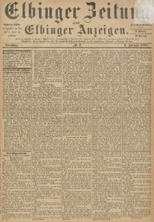 Elbinger Zeitung und Elbinger Anzeigen, Nr. 2 Dienstag 4. Januar 1887