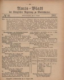 Amts-Blatt der Königlichen Regierung zu Marienwerder, 12. August 1903, No. 32.