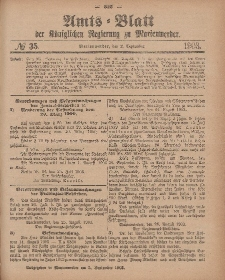 Amts-Blatt der Königlichen Regierung zu Marienwerder, 2. September 1903, No. 35.