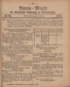 Amts-Blatt der Königlichen Regierung zu Marienwerder, 9. September 1903, No. 36.