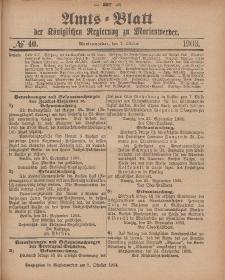 Amts-Blatt der Königlichen Regierung zu Marienwerder, 7. Oktober 1903, No. 40.