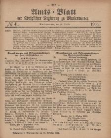 Amts-Blatt der Königlichen Regierung zu Marienwerder, 14. Oktober 1903, No. 41.
